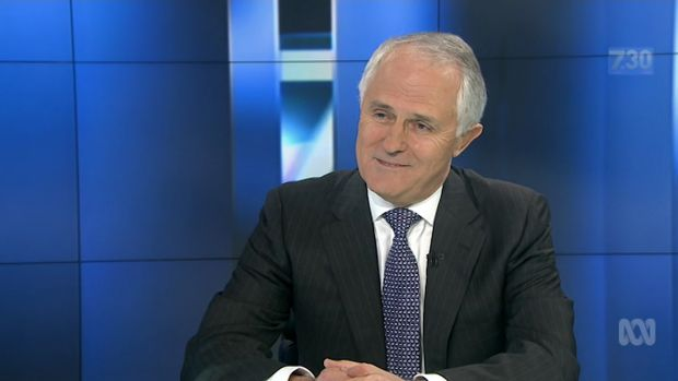 Malcolm Turnbull, pictured on the ABC's <i>7.30</i> program, has been a strong supporter of the broadcaster in the past.