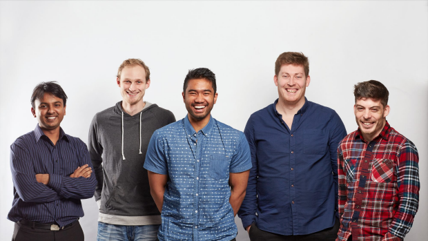 The Ento team has raised $1.2 million from AirTree VC. Aulay Macaulay is second from the right.