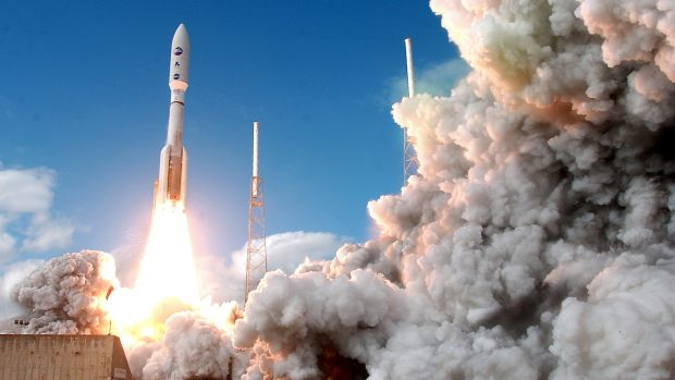 The New Horizons spacecraft was carried by an Atlas V rocket on its mission to Pluto.