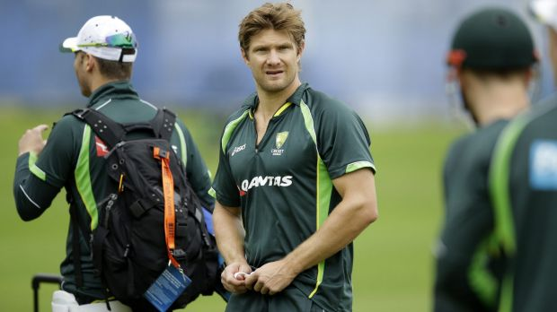 On the outer: Shane Watson takes part in a training session at Lord's.