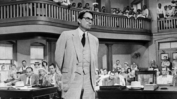 Gregory Peck played attorney Atticus Finch in the film To Kill a Mockingbird, based on the novel by Harper Lee.