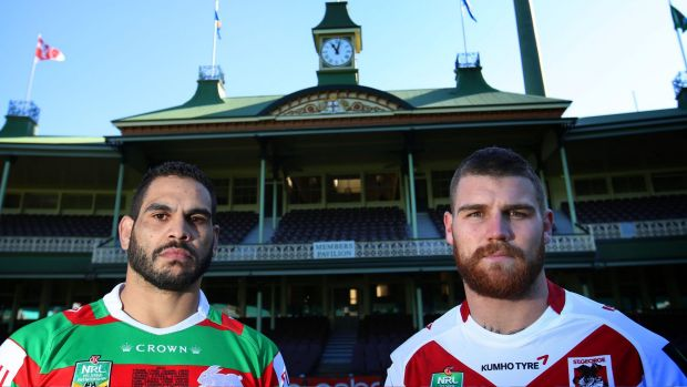 Special ones: Opposing fullbacks Greg Inglis (left) and Josh Dugan will square off on Saturday at the SCG.