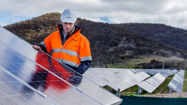 South of Canberra, the Royalla is one of the largest operational solar farms in Australia.