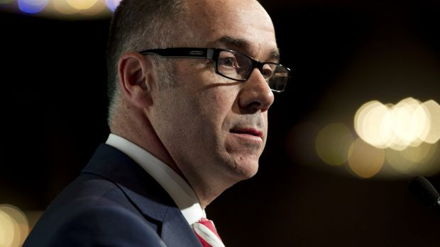 NAB chief executive Andrew Thorburn says the bank is trialing blockchain technology.