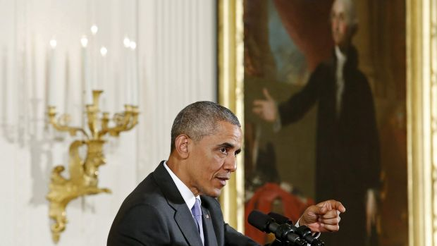 US President Barack Obama argues the pros of the Iran nuclear deal at the White House.