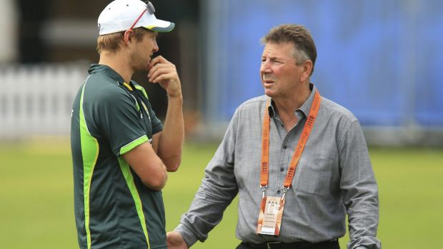 Under fire: Australian chief selector Rod Marsh (right) has attracted criticism.