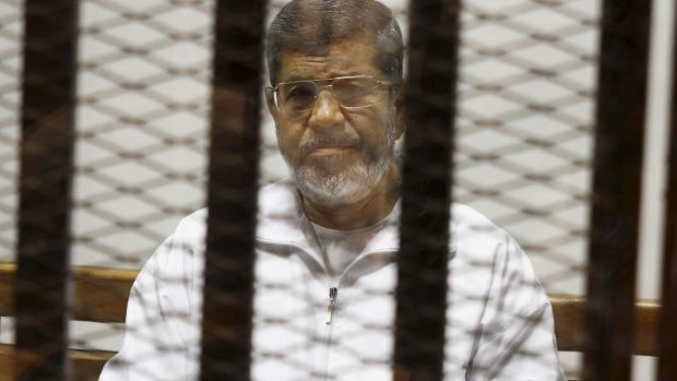 Deposed president Mohamed Morsi.