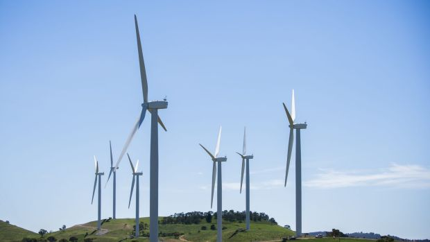 Woodlawn wind turbines: farmers want a transition away from fossil fuels.