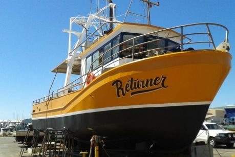 The 'Returner', the trawling vessel missing off the coast of WA.