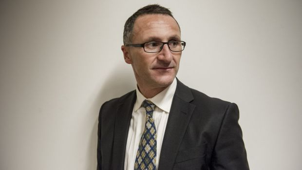 "Greens leader Richard Di Natale says McDonald's is ""playing us all for a bunch of clowns, helping the Hamburgler get ..."