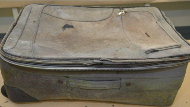The suitcase found with the body of a child at Wynarka.