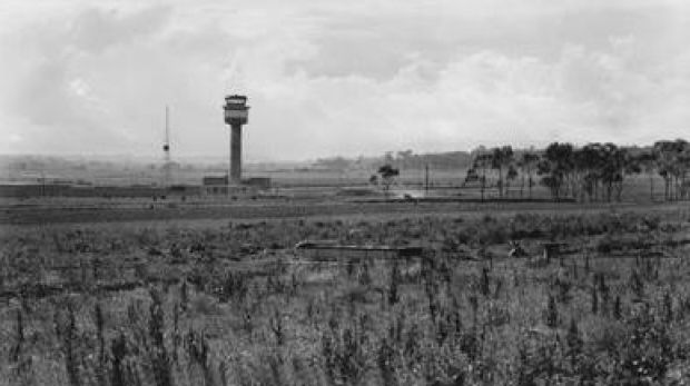 The operations centre and control tower at Tullamarine Airport in 1970.
