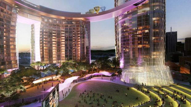 The Queens Wharf development will be the result of one of the casino licences granted by the previous government.