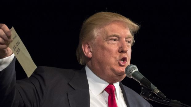 Jon Stewart said Republican presidential candidate Donald Trump's hair looks like it is about to attack people.