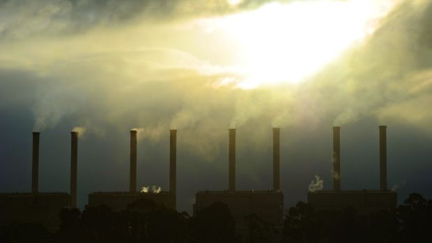 The Hazelwood power station. The four largest brown coal generators in the Latrobe Valley contribute nearly half of the ...