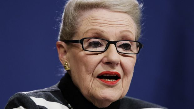 """By putting Bronwyn Bishop """"on probation"""", after her taxpayer-funded helicopter fantasy, Mr Abbott has all but co-opted ..."""