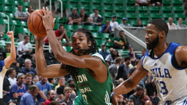 The new King: Marcus Thornton drives for the Boston Celtics during the NBA Summer League.