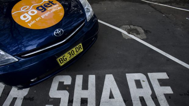 Car sharing service Go Get, one of two firms to start in Canberra.
