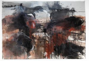 Ruth le Cheminant, Burnt tree stumps, Hill End in Water: Land: Sky at Form Studio and Gallery.