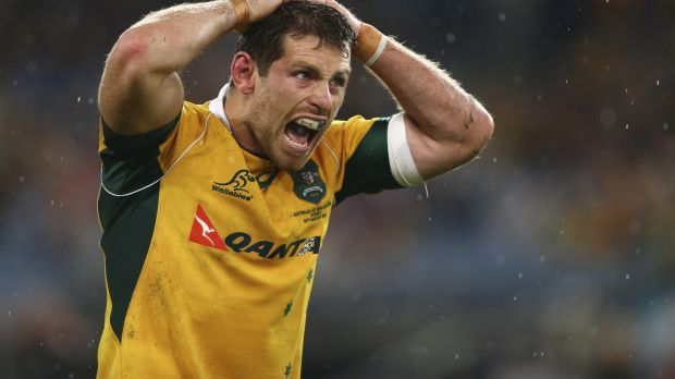 Bernard Foley takes on the play-making duties for the Wallabies.