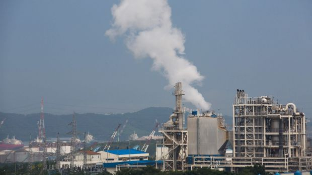 The South Korean city of Ulsan is home to oil refinery facilities.