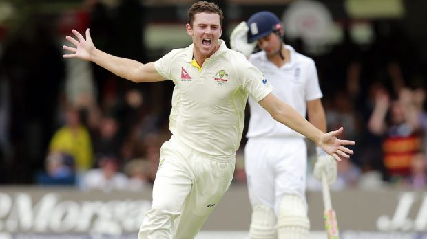 Ready for call-up: Josh Hazlewood is vying with Peter Siddle for the third fast bowling spot against the Kiwis.