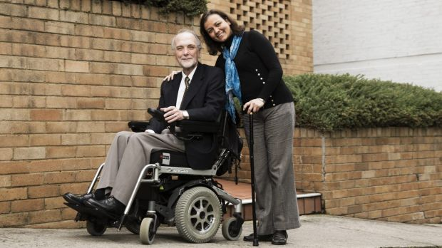 Raymond Saich (left) who is the president of the Australian Pompe Association and Lama Al-Akhras, a fellow sufferer of ...