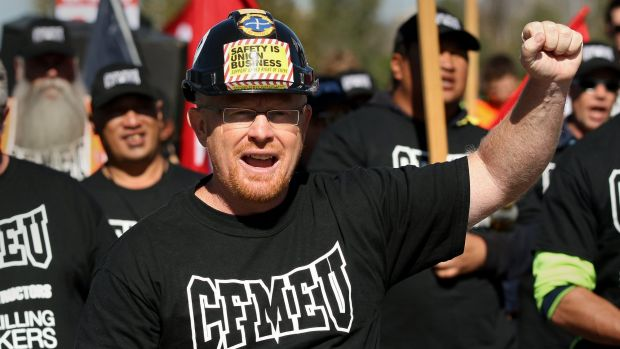 CFMEU ACT secretary Dean Hall complained to Police Minister Joy Birch about police conduct.