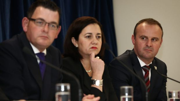 All regions, including those led by Victoria Premier Daniel Andrews, Queensland Premier Annastacia Palaszczuk and ACT ...