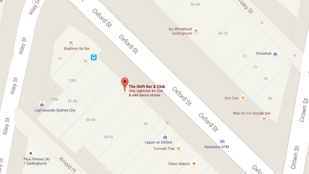 Still listed: The Shift Bar & Club on Google Maps.