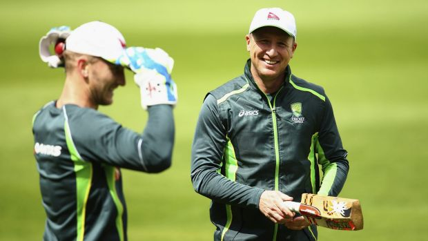 "Brad Haddin says the man who took his spot ""looks at home"" behind the stumps for Australia."