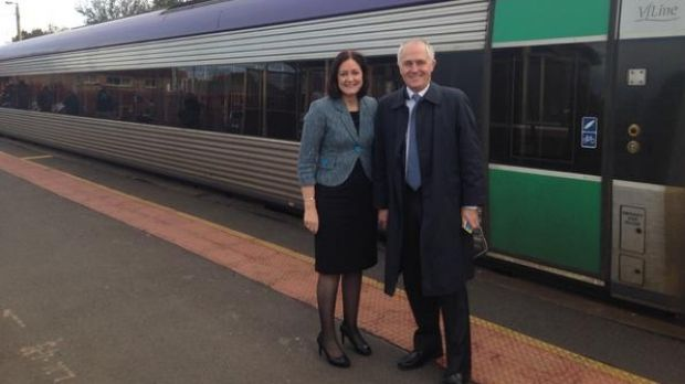 Malcolm Turnbull risking his health on the trains.