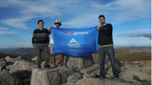 Earlier this year, Cody Hudson (right) conquered Mount Kosciuszko.