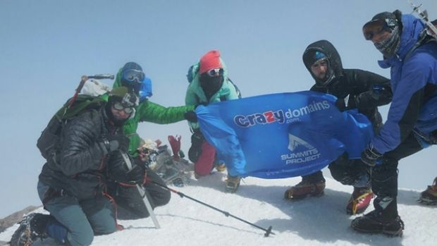 Cody Hudson and his fellow climbers reached the summit of Mount Elbrus last week.