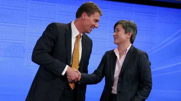 The conclusion of the debate between Senator Bernardi and Senator Wong.