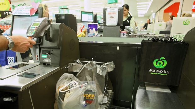 """The """"unexpected item"""" function has been turned off at many Woolworths."""