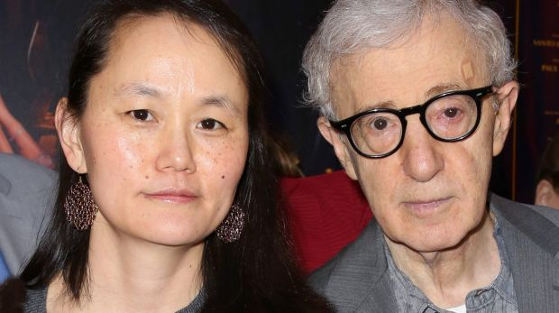 'Lucked out': Soon-Yi Previn and Woody Allen.