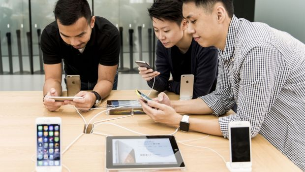 Apple says it is beginning to see signs of the Chinese market softening.