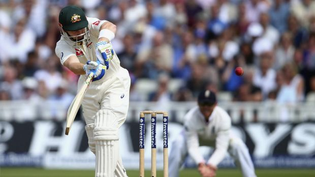 Clip to leg: Peter Nevill during his fighting innings.