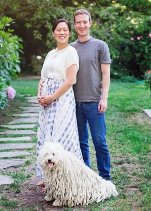 Zuckerberg with his wife Priscilla Chan.