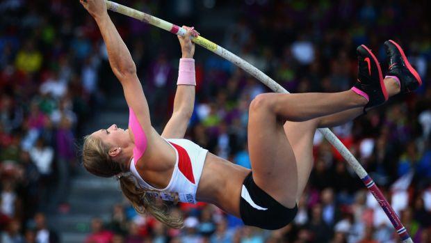 Kira Grunberg in action last year.