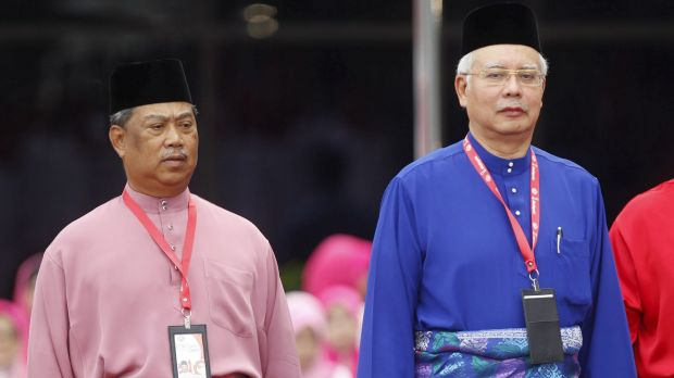 Najib Razak (right) with his then deputy Muhyiddin Yassin, who was recently dropped over criticisms of the PM's handling ...