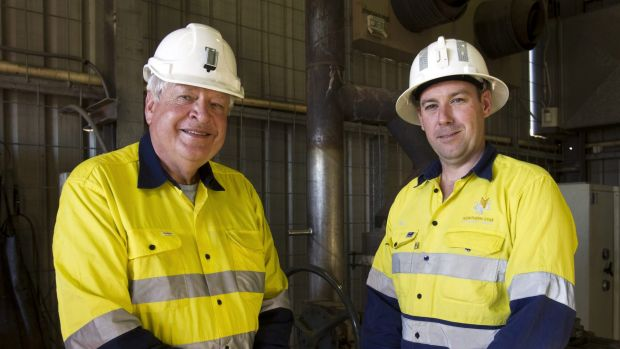 Northern Star Resources chairman Chris Rowe and managing director Bill Beament.