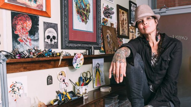 Tattooist Tashi Dukanovic has benefited from our love affair with tattoos but in some workplaces tattoos are not welcome.