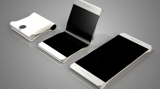 These renders from designer Max Borhof show what a foldable smartphone like Samsung's could look like.