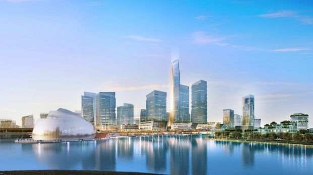 Werribee - but not as we know it. The Australian Education City consortium's winning plans included 50-level skyscrapers.