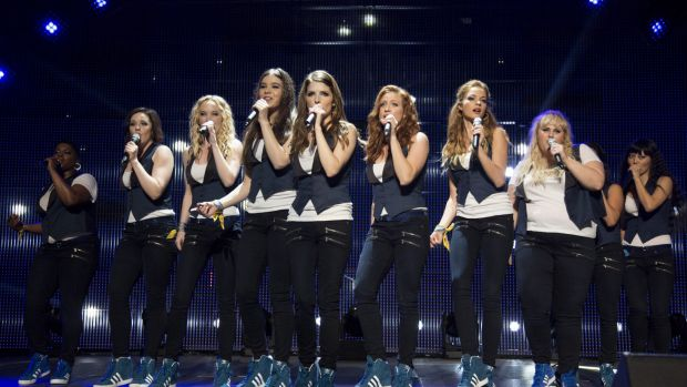 Pitch Perfect, starring Rebel Wilson, features women competing in singing competitions.
