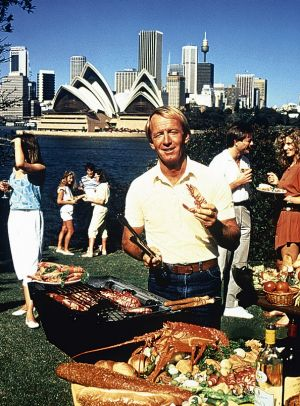 """Paul Hogan: """"Come and say G'day""""."""