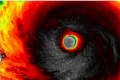 Eye of the storm: While Australia were being humiliated, Super Typhoon Soudelor was bearing down on Taiwan.