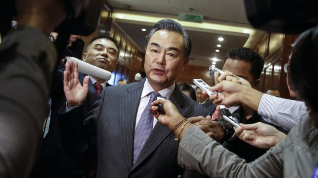 """Chinese Foreign Minister Wang Yi: """"China has stopped. China has stopped. You want to see? Take a plane and see who is ..."""